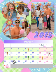 Photo calendar with family pictures