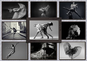 collage with photos of dancers