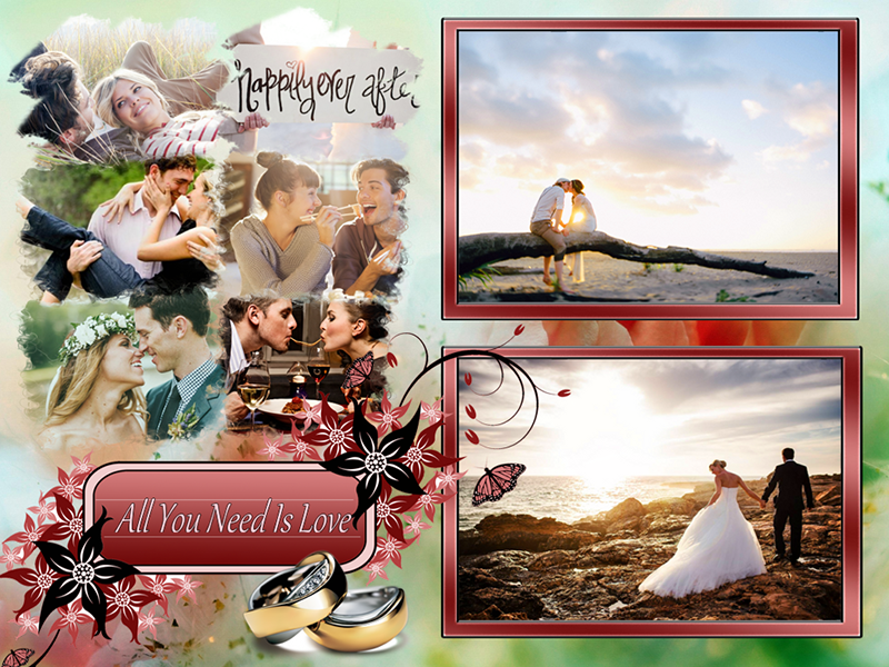 Wedding Anniversary Collage Design Creative Photo Design Blog