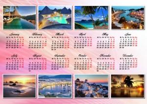calendar with several photos