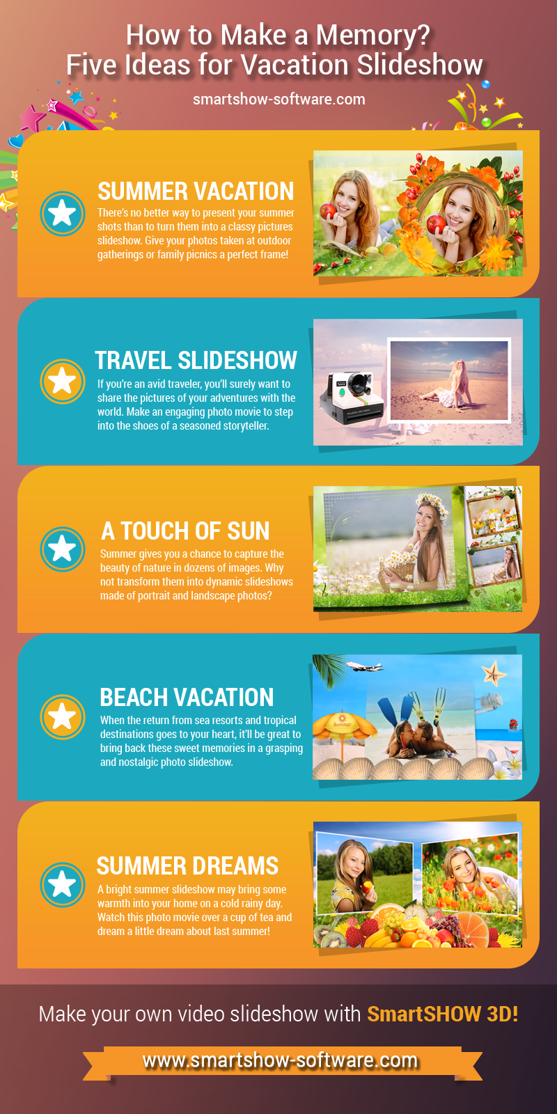 Five ideas for vacation slideshow