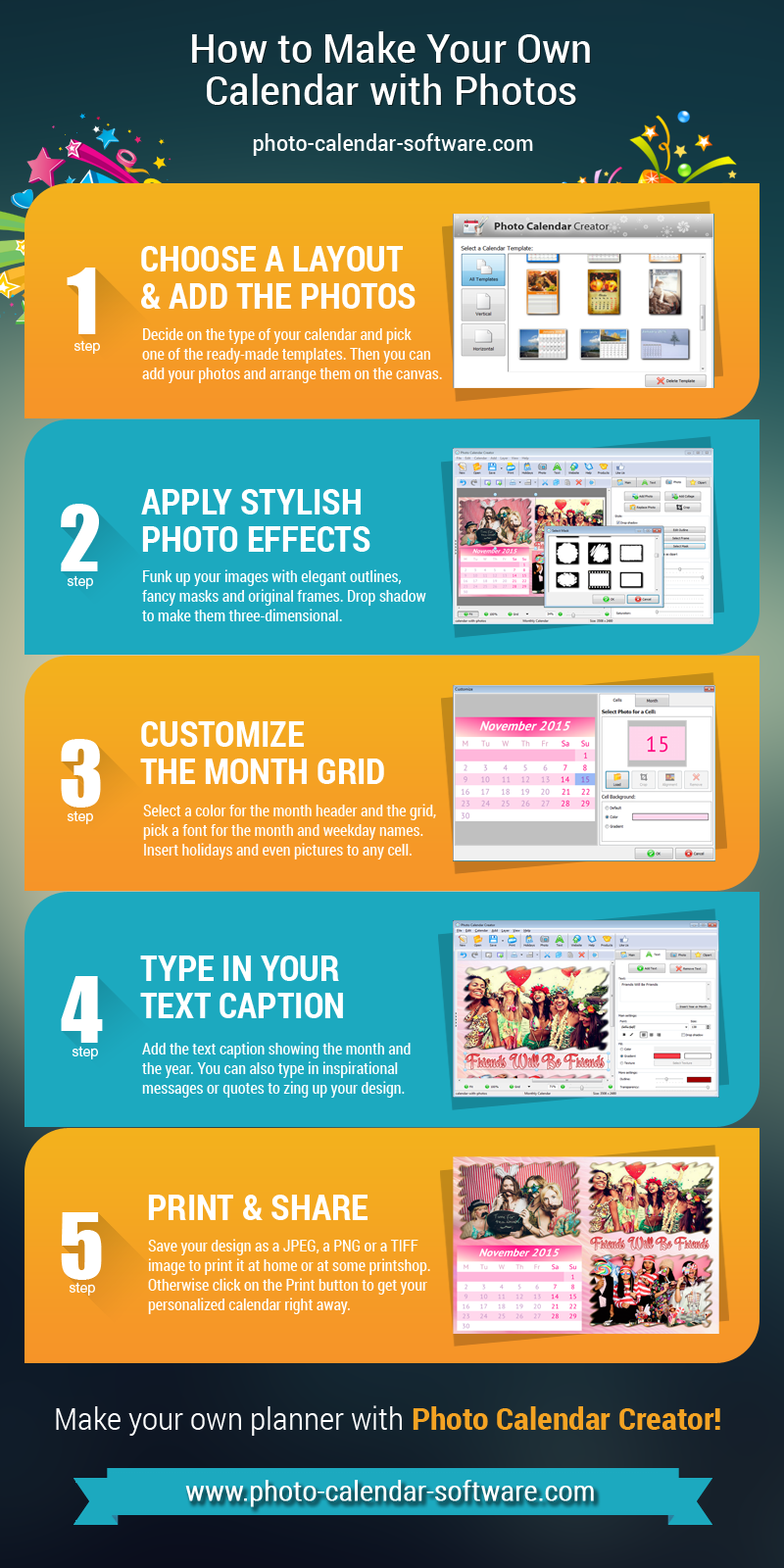 How to make your own calendar with photos