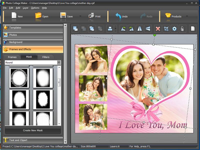 "I Love You"" Photo Collage Creative Photo Design Blog"
