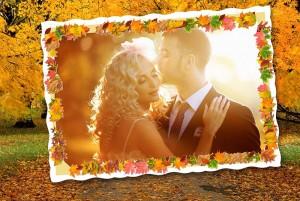 autumn wedding frame