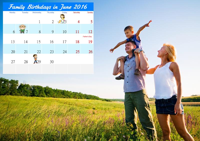 Unique family calendar