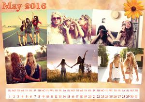 Classy calendar for a girl