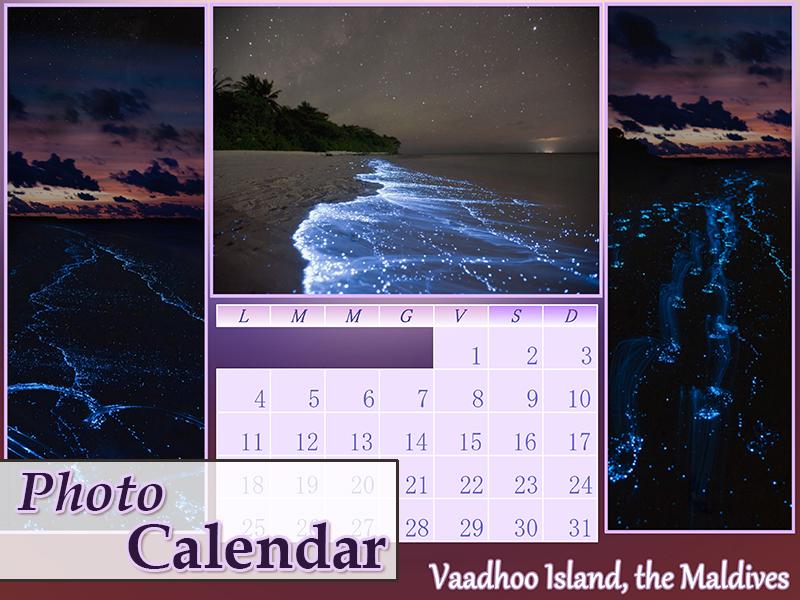 photo calendar design