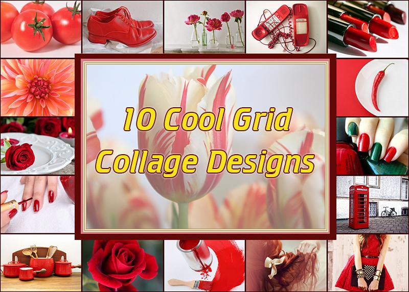 grid collage design