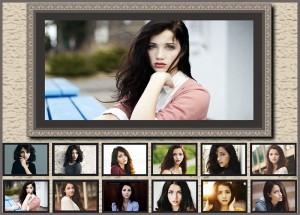 portrait grid collage design