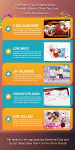 Valentine gift ideas infographics