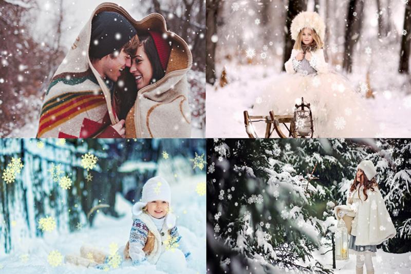 Snow animation collage