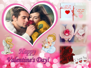 Valentine's Day collage