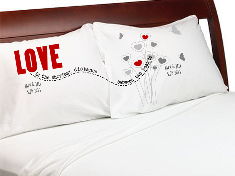 Pillowcases for couples