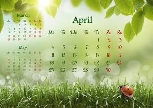 Fresh spring calendar