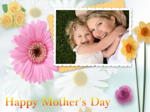 Mother's Day card with text