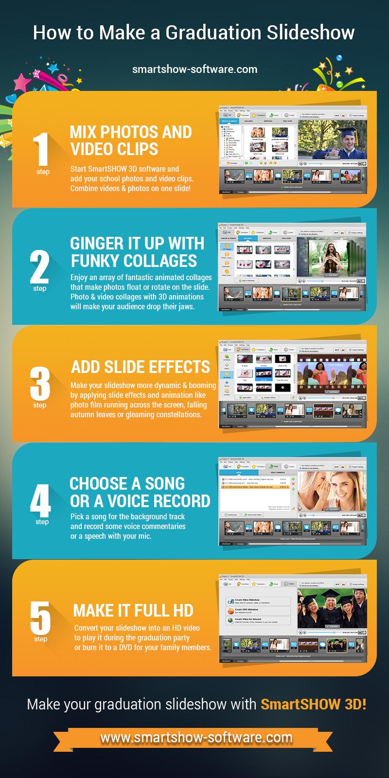 how to make a graduation slideshow