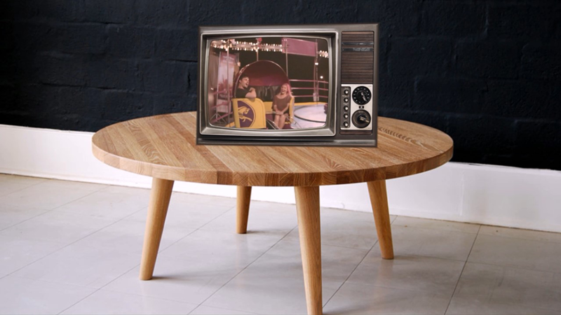 video montage with a TV set