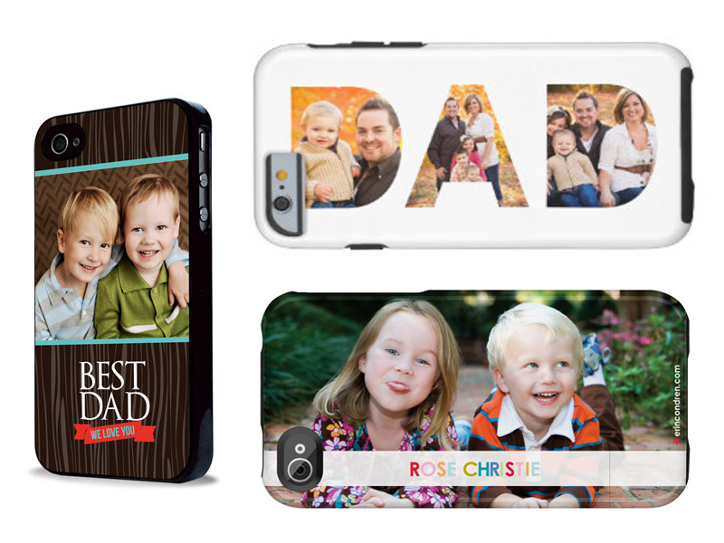 Phone case with kids photos