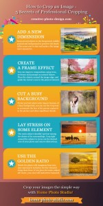 Infographics on how to crop an image