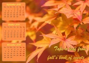 Gorgeous fall calendar 2016