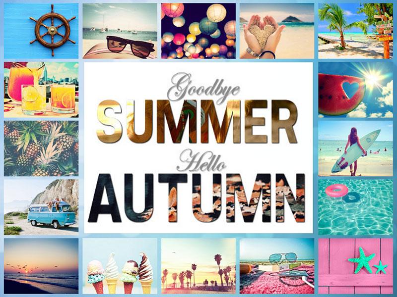 Goodbye summer collage