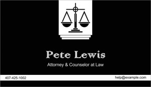 Atorney at law business card