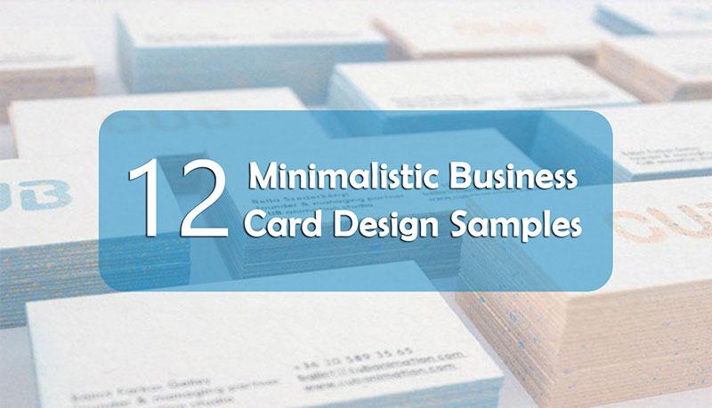 Minimalistic business card design samples