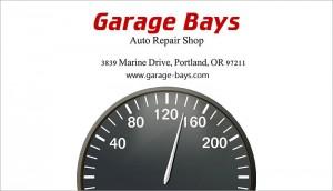 Car repair shop card