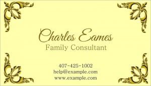 Family consultant business card