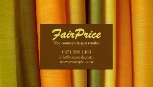 Retailer business card
