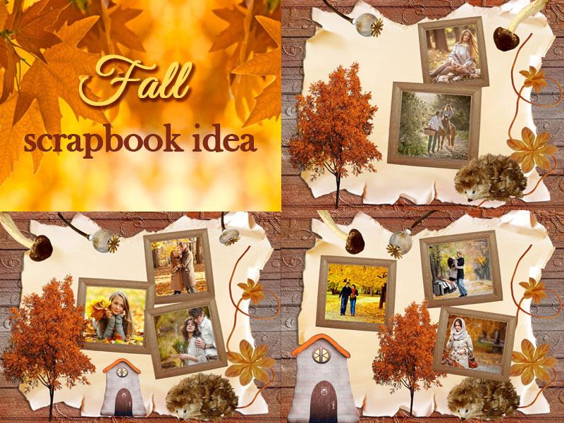Fall-inspired scrapbook
