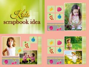 Scrapbook idea for kids' photos