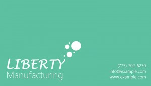 Manufacturing company card