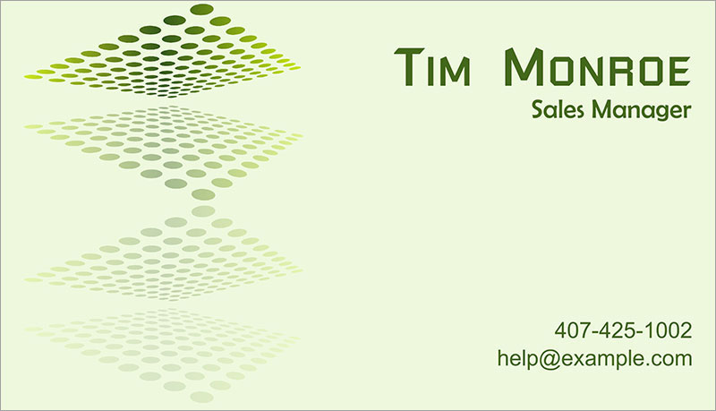 Sales manager calling card