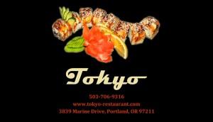Japanese restaurant card