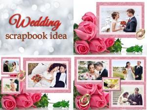 Wedding scrapbook design