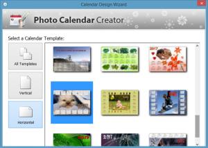 Photo calendar creator wizard