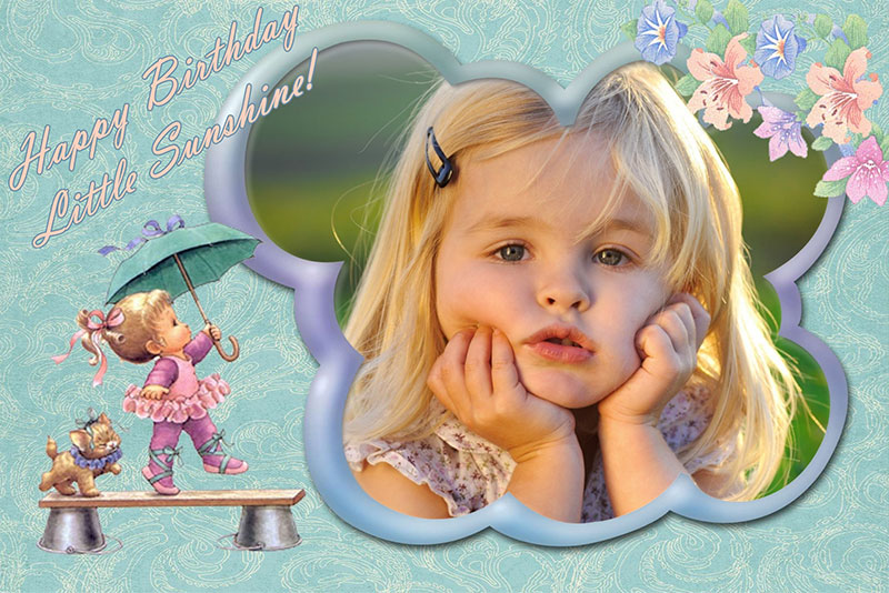 Cute birthday card for kids