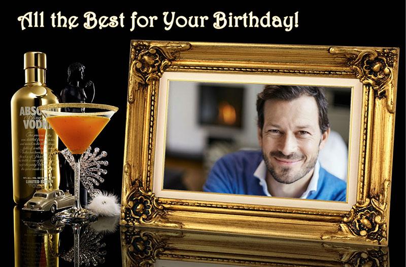 Birthday card design for men