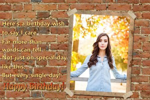 Grunge-style birthday card