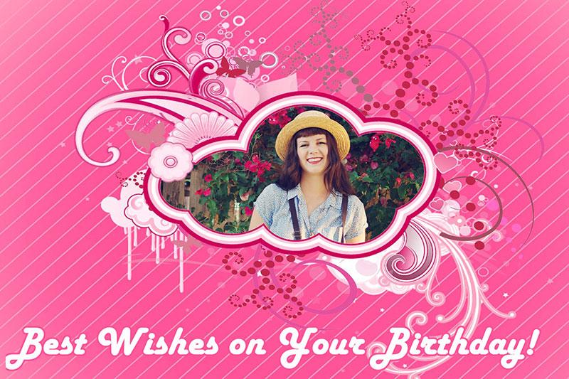 Posh birthday card