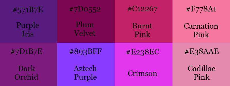 Violet color scheme