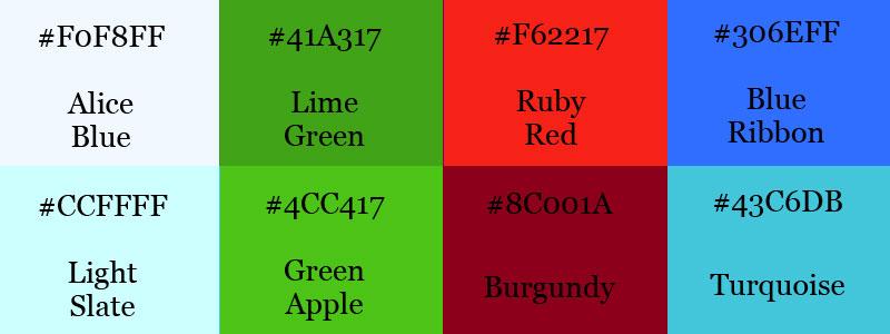 Vibrant color scheme
