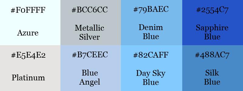 Blue color scheme