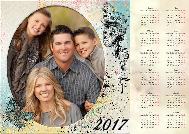 Family photo calendar for 2017