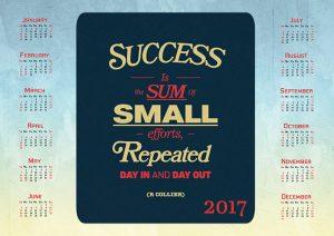 Inspirational calendar 2017
