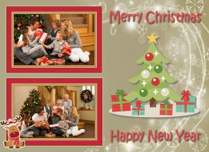 Christmas card with soft colors