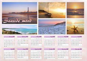 Photo calendar for 2017