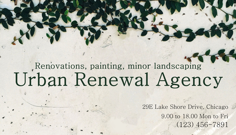 renovation agency card