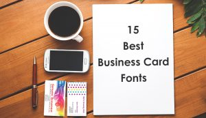 best font for business card
